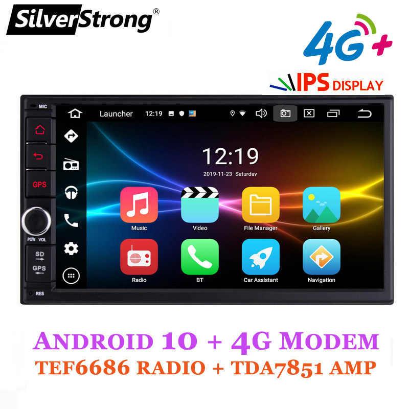 Silverstrong ''Ips 4G Modem 2Din Android10.0 Universele 2Din Dvd Android Auto Gps Radio Universele Auto Stereo 2Din 706