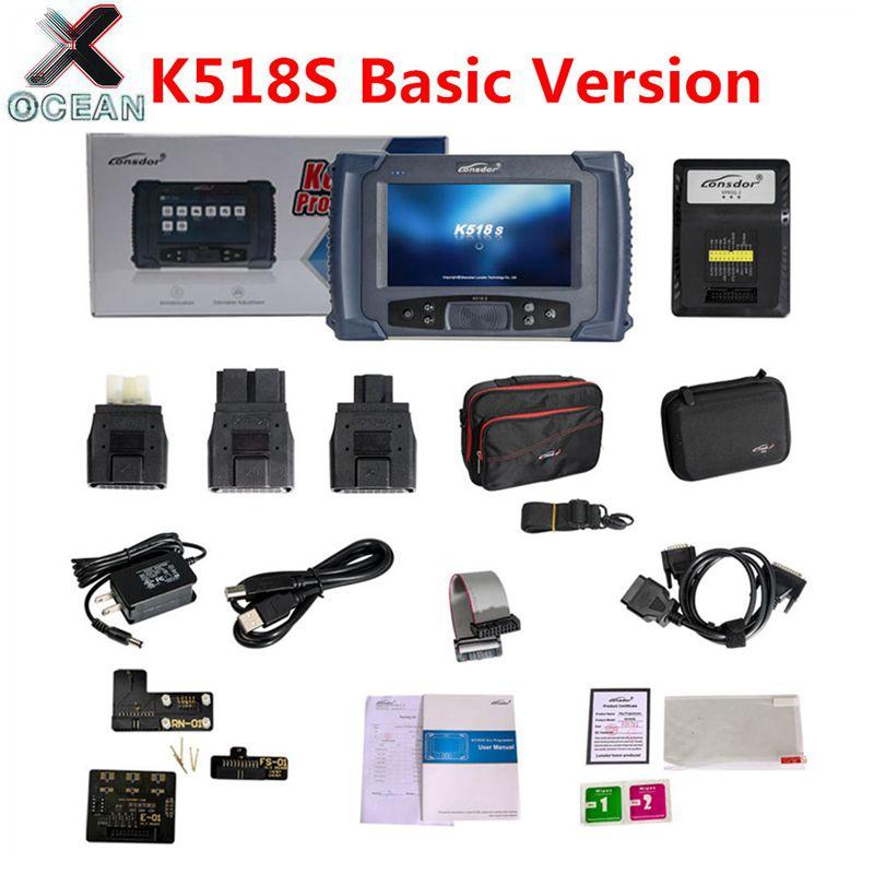 Новейший программатор LONSDOR K518S для ключей Базовая версия для BMW FEM программа для программирования ключей для Toyota для смарт ключ для Lexus lost