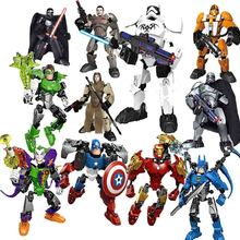 Marvel Avenger Star Wars Solo Han Maul Darth White Figure toys building block