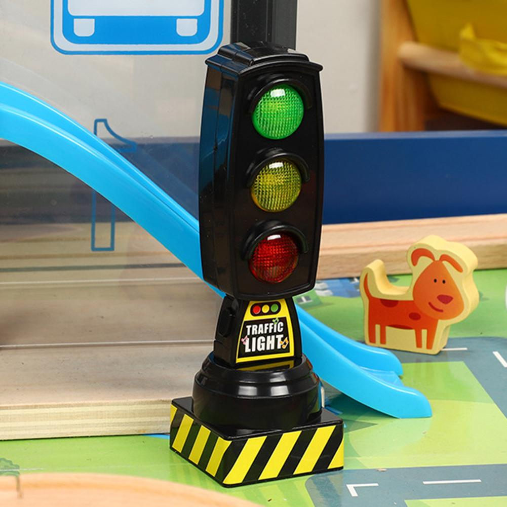 Simulation Traffic Signs Stop Music Light Blocks Model Early Education Kids Toy Music With Lights Perfect Gifts