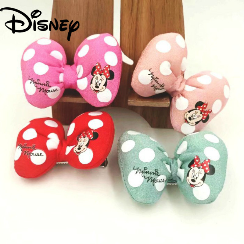 Minnie Hair Clips Korean Dot Mickey Bow Children's Hairpin Little Girl Side Clip Girls Hair Rope Rubber Band Headdress