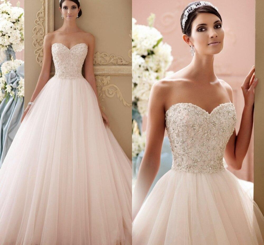 Hot Sale 2015 Princess Wedding Dresses Beading Tank Bridal Dress Luxury Trulle Bride Gown Vestido De Novia