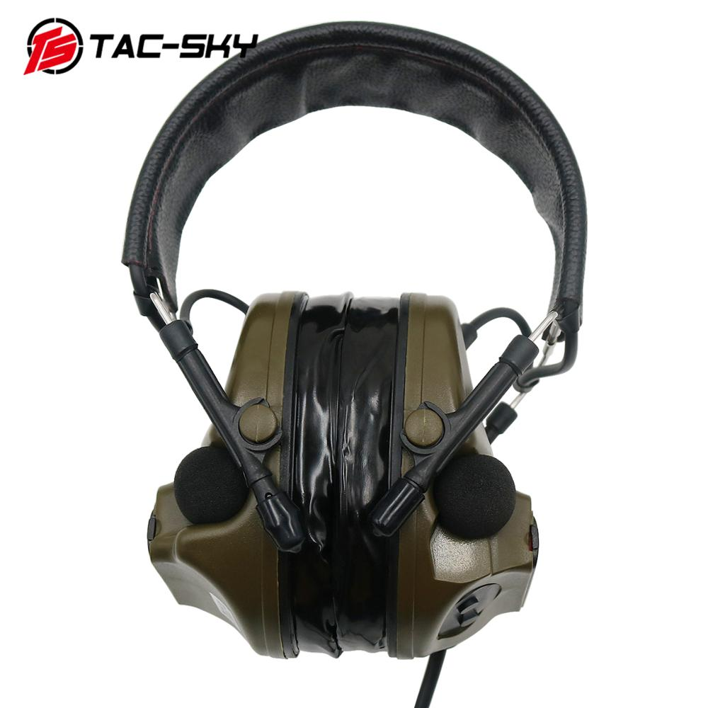 Image 4 - TAC SKY military adapter KENWOOD U94 PTT + COMTAC III silicone earmuffs noise reduction pickup tactical headset FG-in Intercom Accessories from Security & Protection