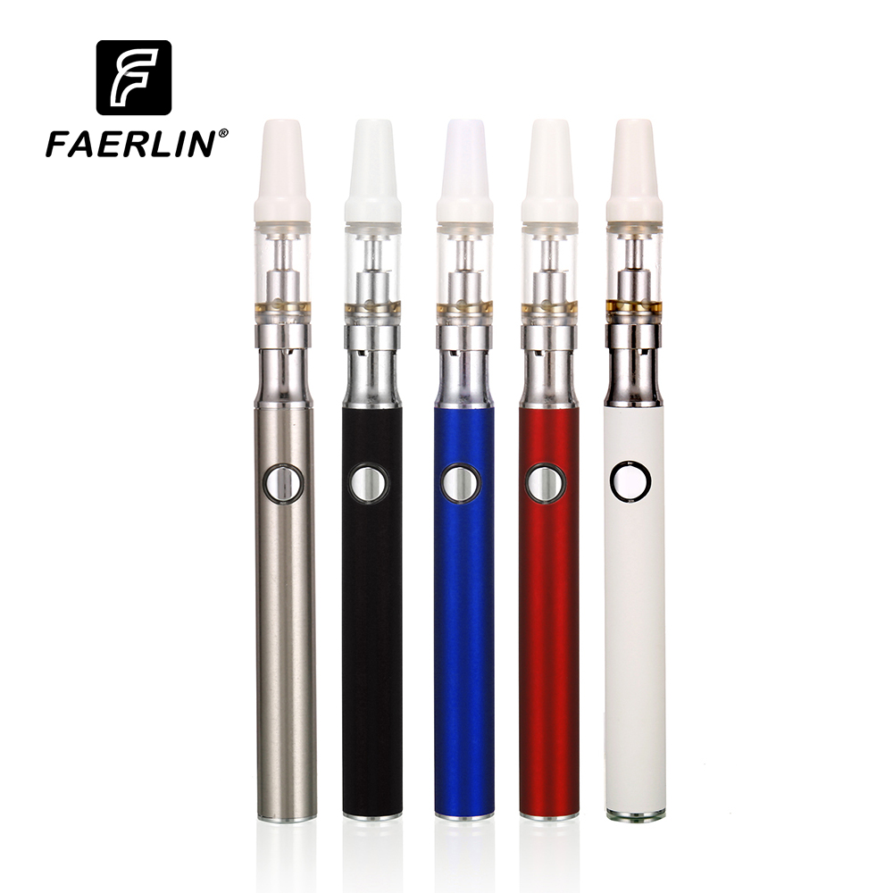 Electronic Cigarette Vape Pen  Preheat Battery CBD Cartridge And Vaporizer Tank Ceramic Coil Glass Vaporizer