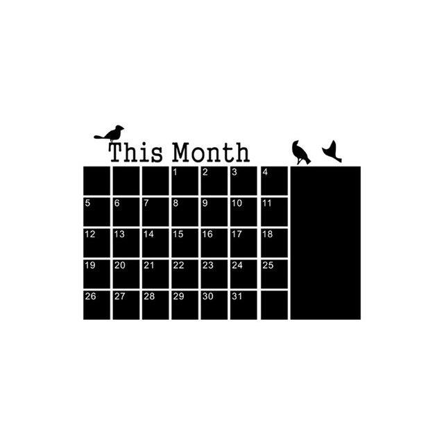 Blackboard Chalk DIY Monthly Planner Calendar 10