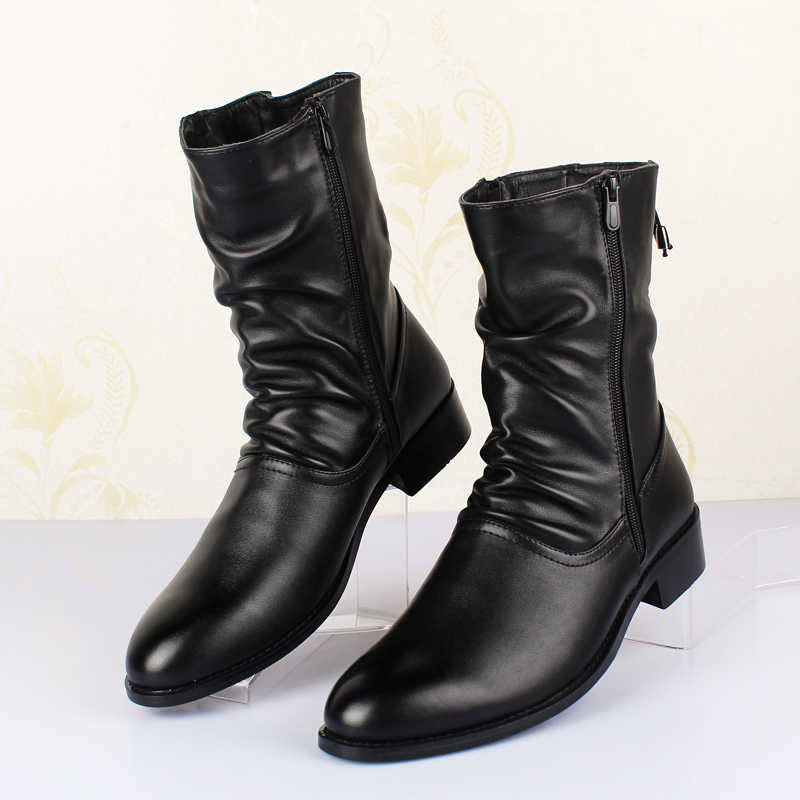 Nieuwe Mannen Winter Laarzen Mannen Laarzen Veiligheid Schoenen Wees Warm Houden Mannen Laarzen Werken Schoenen Mode Herfst Winter Mannen schoenen