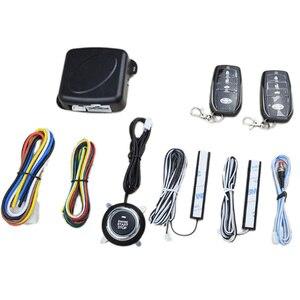 Горячая Распродажа, Система бесключевого доступа, система запуска двигателя, Автомобильная сигнализация, кнопка запуска, стоп-сигнал, Авто...