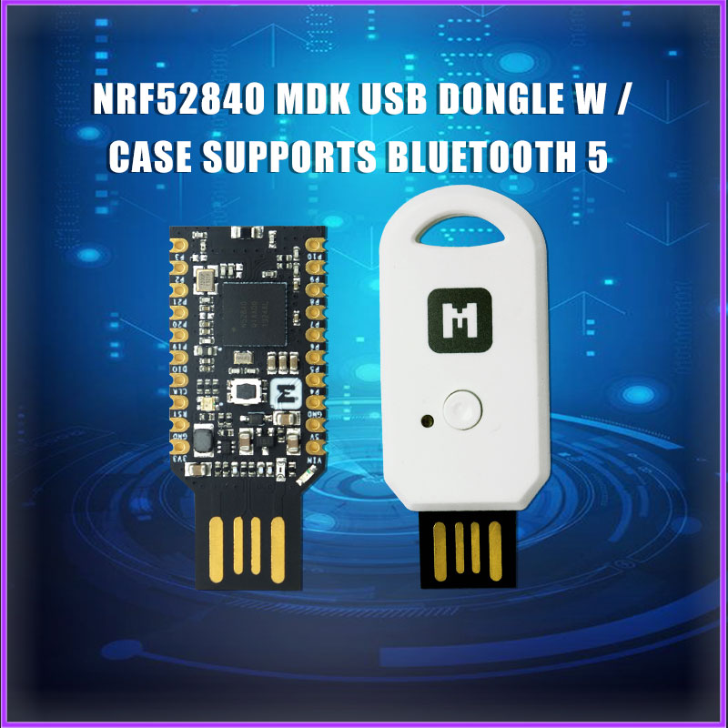 NRF52840 Micro Dev Kit USB Dongle With Case  Optional For Bluetooth 5/Thread/Zigbee/ 802.15.4/Raspberry Pi 4B