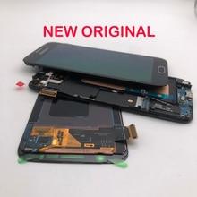 Оригинальный AMOLED ЖК дисплей 5,1 дюйма, дигитайзер сенсорного экрана с рамкой для SAMSUNG Galaxy S6 G920 G920F G920V G920A G920i G920p
