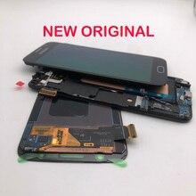 Tela lcd amoled original 5.1 , digitalizador touch screen com quadro para samsung galaxy s6 g920 g920f g920v g920a g920i g920p