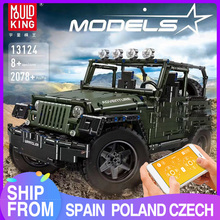 MOULD KING MOC High-Tech RC Jeeps Adventure Off-road vehicle Model Building Block Bricks Kids Educational Toys Christmas Gifts