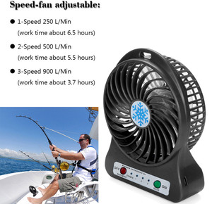 Mini Portable Rechargeable Fan Air Cooler Mini Desk Usb 18650 Battery Fan Usb Cooling Rechargeable Fan For Outdoor Office#p40