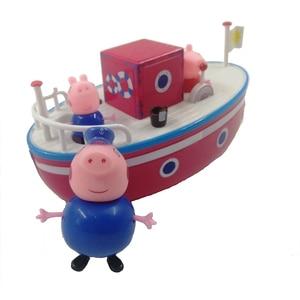 Image 5 - Nieuwe Peppa Pig Zeilen George Model Roze Varken Familie Grootvader Action Stripfiguur Speelgoed Bad Set Kinderen Beste Speelgoed gift