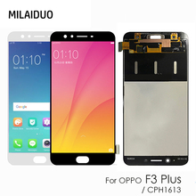 Original 6.0'' LCD For Oppo F3 Plus CPH1613 LCD Display + Touch Screen Digitizer Assembly Replacement Parts стоимость