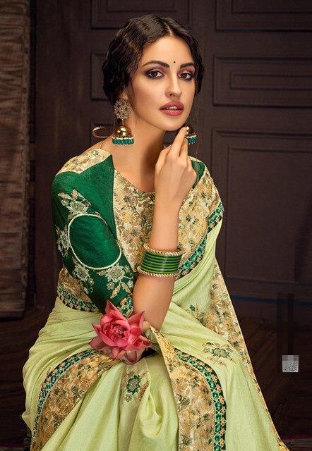 17 ألوان رائع الهندي الساري الهندي للمرأة الجميلة التطريز ساري العرقية النسيج 6
