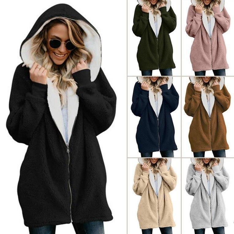 Winter Women's Pregnant Women Hoodie Long Jacket Solid Zipper Casual Women's Jacket Hoodie Women's Pregnancy Tops