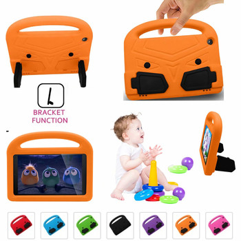For Amazon Kindle Fire HD 8 2016/2017/2018 HD8 Cute Kids Shockproof Case Safe EVA Soft Rubber Handle Stand Protective Cover Case tablet case 7 inch universal tablet pc protective shell for children shockproof cover eva handle stand for amazon kindle fire