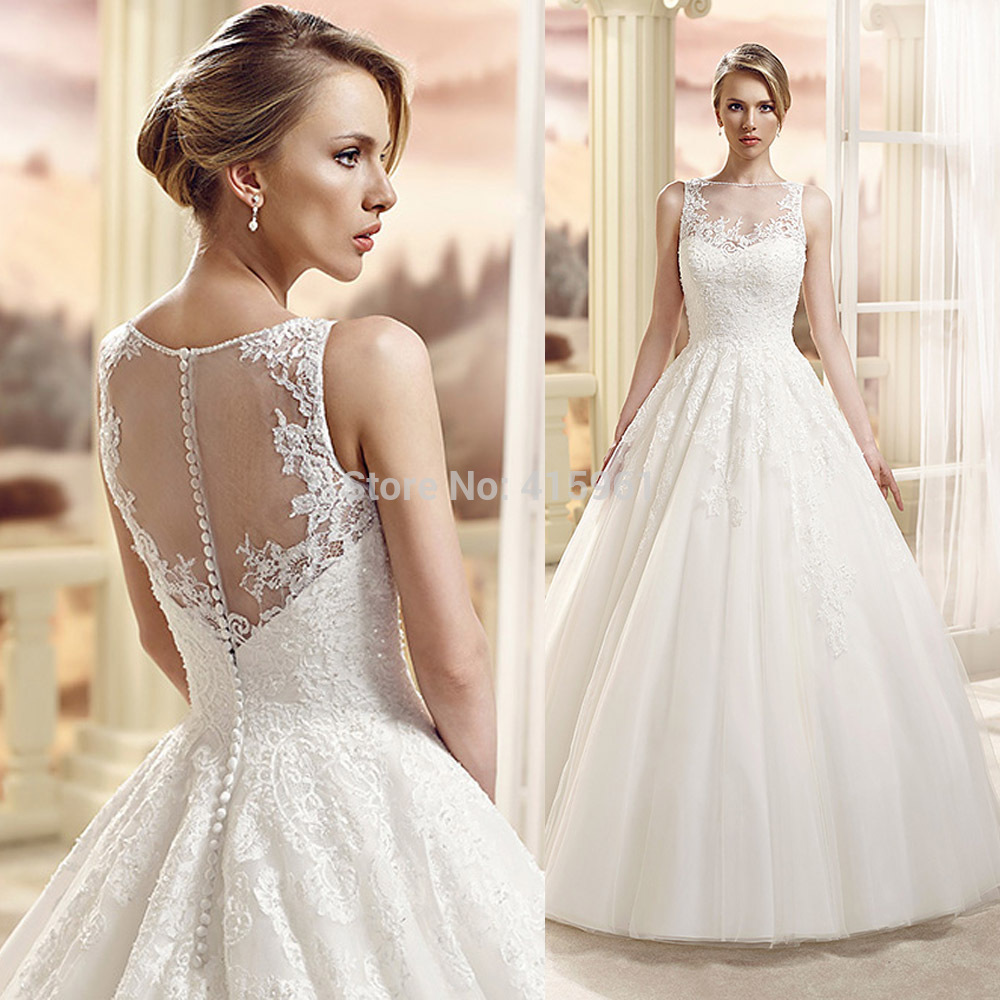 Robe De Mariee Vintage Wedding Dresses Princess Lace Bridal Gowns See Through 2019 Vestido De Noiva Casamento Wedding Dresses