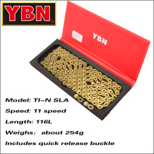 YBN bike chain X9 X10 X11 X12 speed mountain road bike 116 left MTB chain KMC bicycle chains genuine kmc x8 x9 x10 x11 mtb bike chain 8 9 10 11 speed bicycle chain 116 links steel road bike chain with missing link