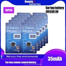 10 pçs/lote original renata cr1220 botão baterias de célula cr 1220 3v lítio moeda bateria br1220 dl1220 ecr1220 lm1220 para relógio