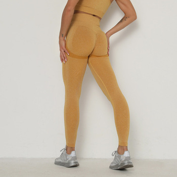RUUHEE Seamless Legging Yoga Pants Sports Clothing Solid High Waist Full Length Workout Leggings for Fittness Yoga Leggings 35