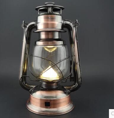 Lampe de Camping Vintage rechargeable en plein air 17led lumière de tente lampe Portable lampe en forme de flamme perles lumière chaude