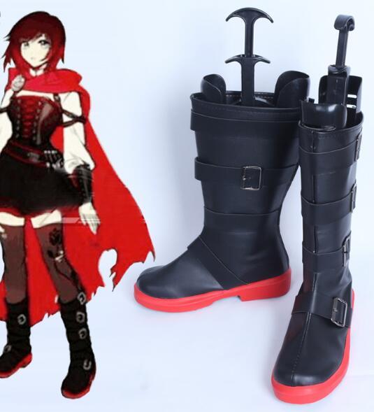 Женские ботинки для косплея RWBY 4 Red Trailer Ruby Rose, вечерние ботинки в стиле аниме для косплея, индивидуальный пошив