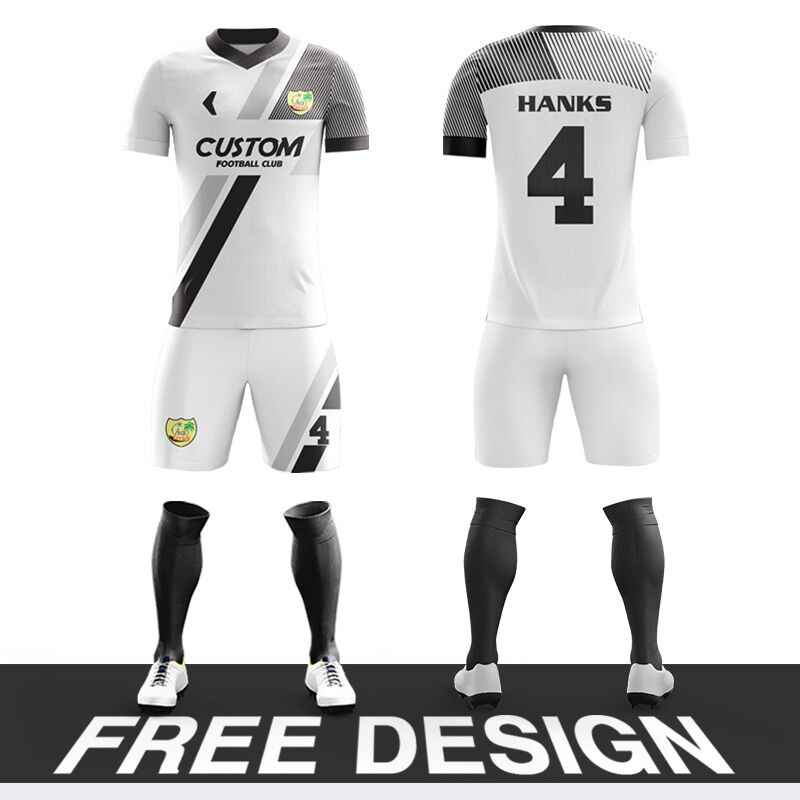 Custom Football jerseys Full Sublimation Printing Soccer Jerseys Club Team Football Training Uniform suit Camisetas Futbol Shirt