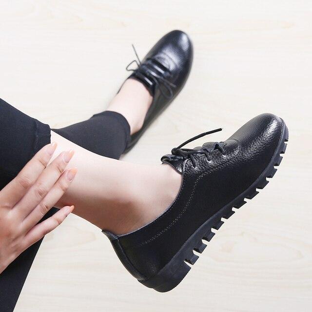 Купить женские теннисные туфли дышащие лоферы из натуральной кожи для