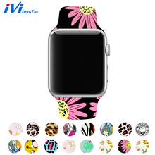 цена на iviLongTail Soft Silicone Band For Apple Watch Strap 38mm 42mm 40mm 44mm Sport Bracelet Watchband For iWatch Series 5 4 3 2 1