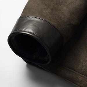 Image 5 - Dk com capuz casaco de pele de carneiro com capuz engrossar roupas de pele armygreen casual casacos de pele de qualidade superior outwear