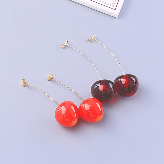 kissme Cute Red Dark Red Acrylic Vivid Cherry Drop Earrings For Women Gifts Gold Color Brass.jpg 640x640 - kissme Cute Red&Dark Red Acrylic Vivid Cherry Drop Earrings For Women Gifts Gold Color Brass New Fashion Jewelry Dropshipping
