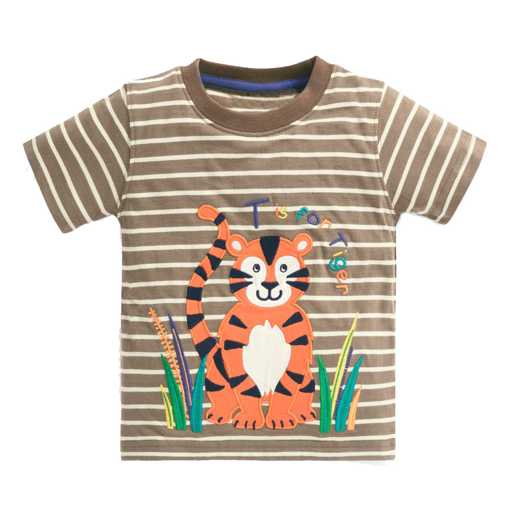 Jumping meters Boys Tshirts For Summer Baby Clothes Applique Cotton Kids  Stripe Tees Tops Fashion Children's T shirts Boys Girls boys tops baby boy  topsboy t - AliExpress