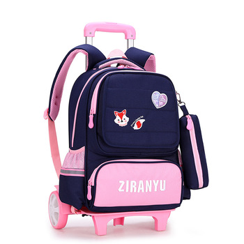 Kids Wheels Removable Trolley school Backpack Children school bags Girls Kids travel bag princess Schoolbag Mochilas Escolares kids wheels removable trolley school backpack children school bags girls kids travel bag princess schoolbag mochilas escolares
