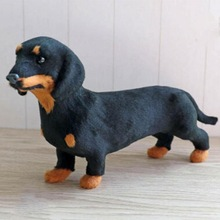 3D Baby Plush Toy Stuffed Toy Simulation Standing Black Dachshunds Dog Stuffed Animal Toy Super Realistic Dog Toy Child Gift