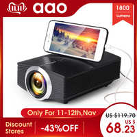 AAO YG500 mise à niveau YG510 Mini projecteur 1080 P 1800 Lumen Portable LCD projecteur LED Home cinéma USB HDMI 3D Beamer haut-parleur de basse