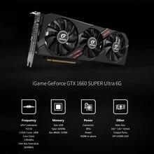 Carte graphique colorée iGame GeForce GTX 1660 SUPER Ultra 6G 1830MHz GDDR6 6GB lumière rvb une clé Overclock GPU