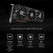 IGame GeForce GTX 1660 SUPER Ultra 6G กราฟิกการ์ด 1830MHz GDDR6 6GB RGB แสง key Overclock GPU