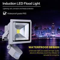 Holofote led com sensor de movimento  10/20/30/50w  à prova d' água  ac220v 240v  pir  led holofote ip65 para projetor exterior