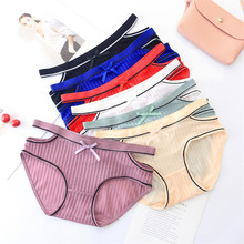 Fashion sexy striped ice silk openwork briefs lace underwear boxer pants seamless transparent