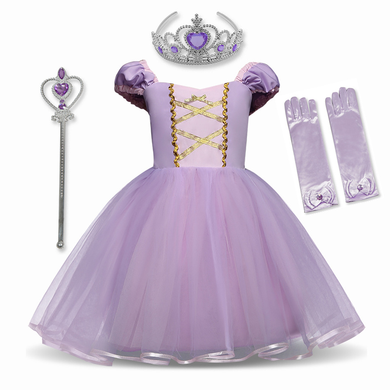 Princess Dress Cosplay Princess Costume for Baby Girl Toddler White Girls Clothes 12M Birthday Party Dress 1