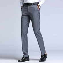 Suit Pants Trousers Business Formal Straight Casual Autumn Spring Fashion 28-42 Long