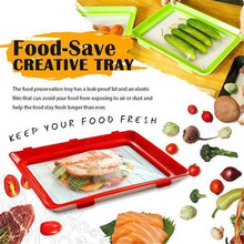 1PC Food Storage Preservation Tray Plastic Refrigerator Food Plate Kitchen Decoration Container Fresh Food Serving Tray