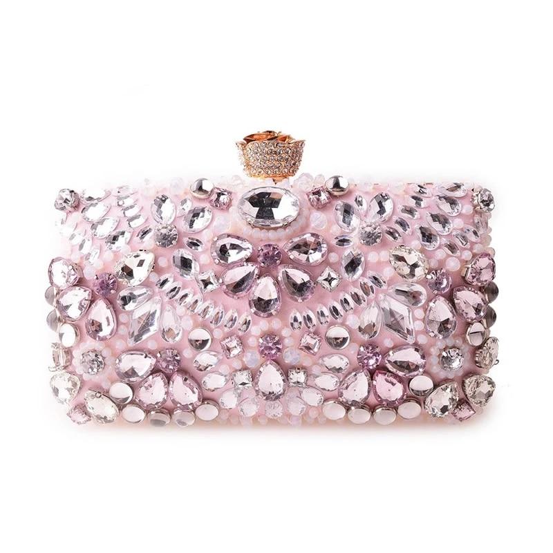 Fashion Clutch Bag Women Elegant Rhinestone Evening Party Handbag Women/'s Shoulder Bag Handbag Purse Wedding Daily Use Lady Bag