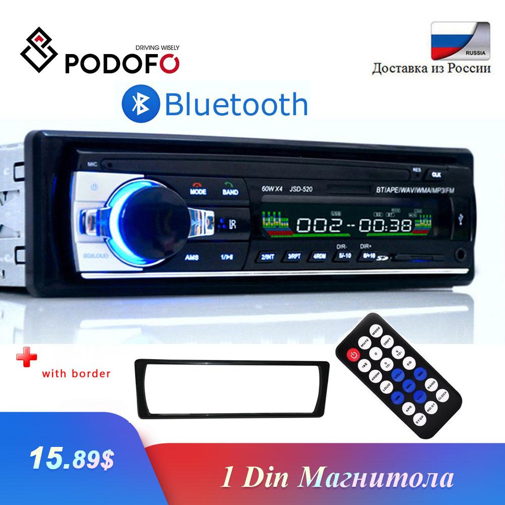 Radio Coche Bluetooth In-Dash 12V SD//USB//AUX FM Estéreo MP3 Reproductor I DIN