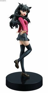 Image 4 - 18cm Anime Action Figure Nero Saber Fate Stay Night UBW Tohsaka Rin School Uniform Ver 1/8 Scale PVC Collection Model Sexy Toys