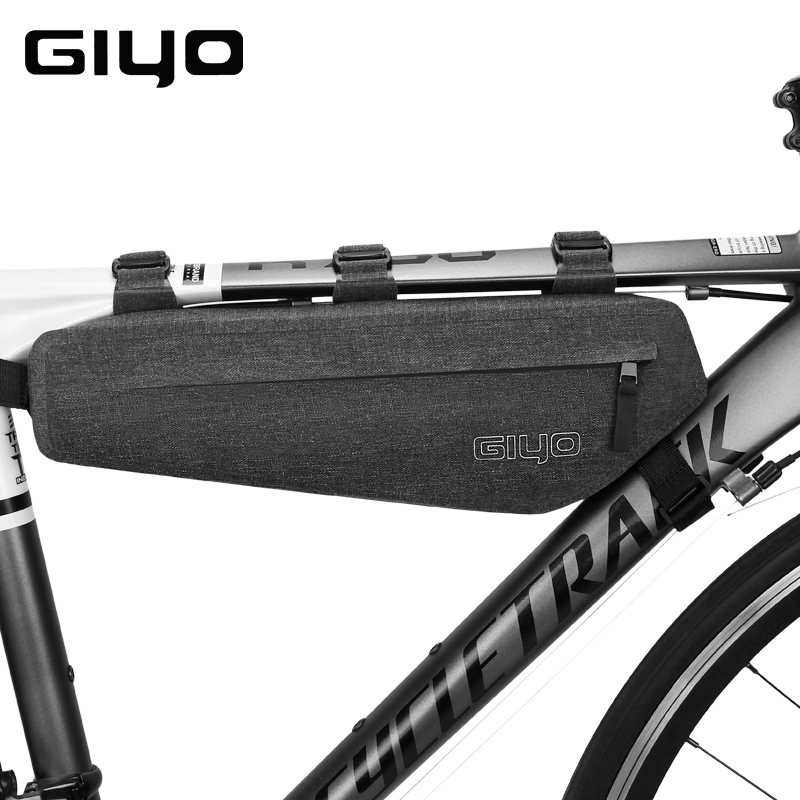 Giyo 3l Large Capacity Waterproof Bicycle Cycling Bike Front Frame Top Tube Triangle Bag Pannier Sack G12 Leather Bag
