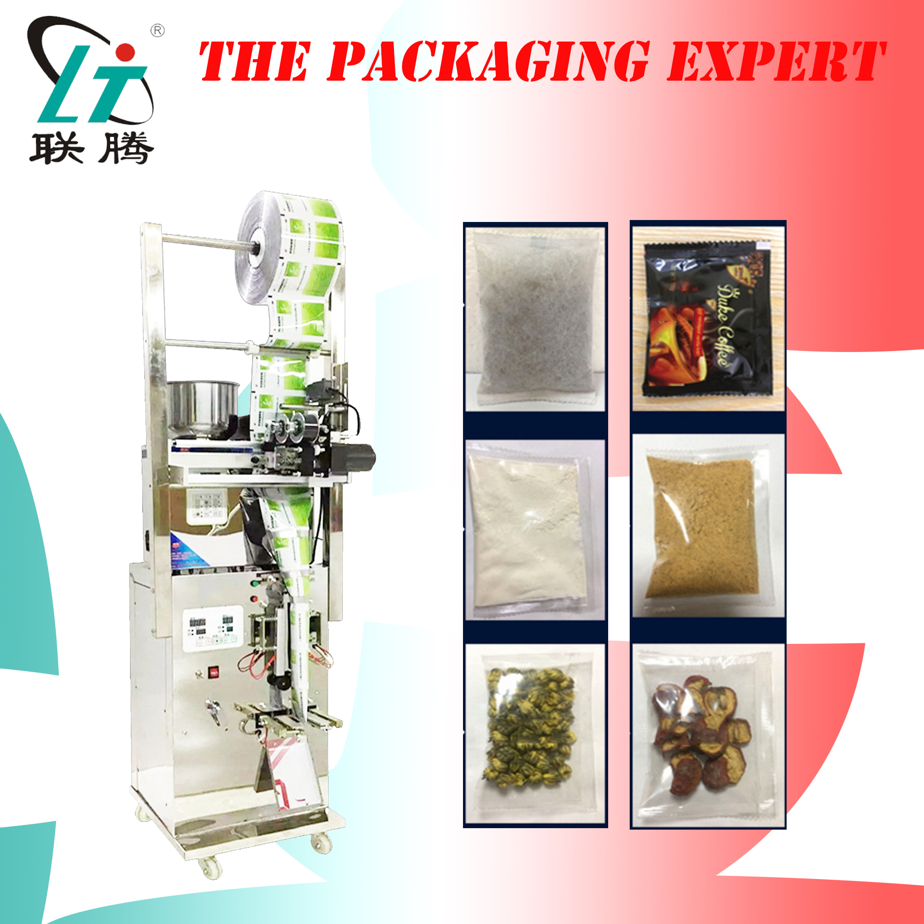 Automatic Packing Machine Weighing And Filling 3 Sides Sealing Machine For Snacks Tea Powder Medicine Herb Pet Food Seed Pouch