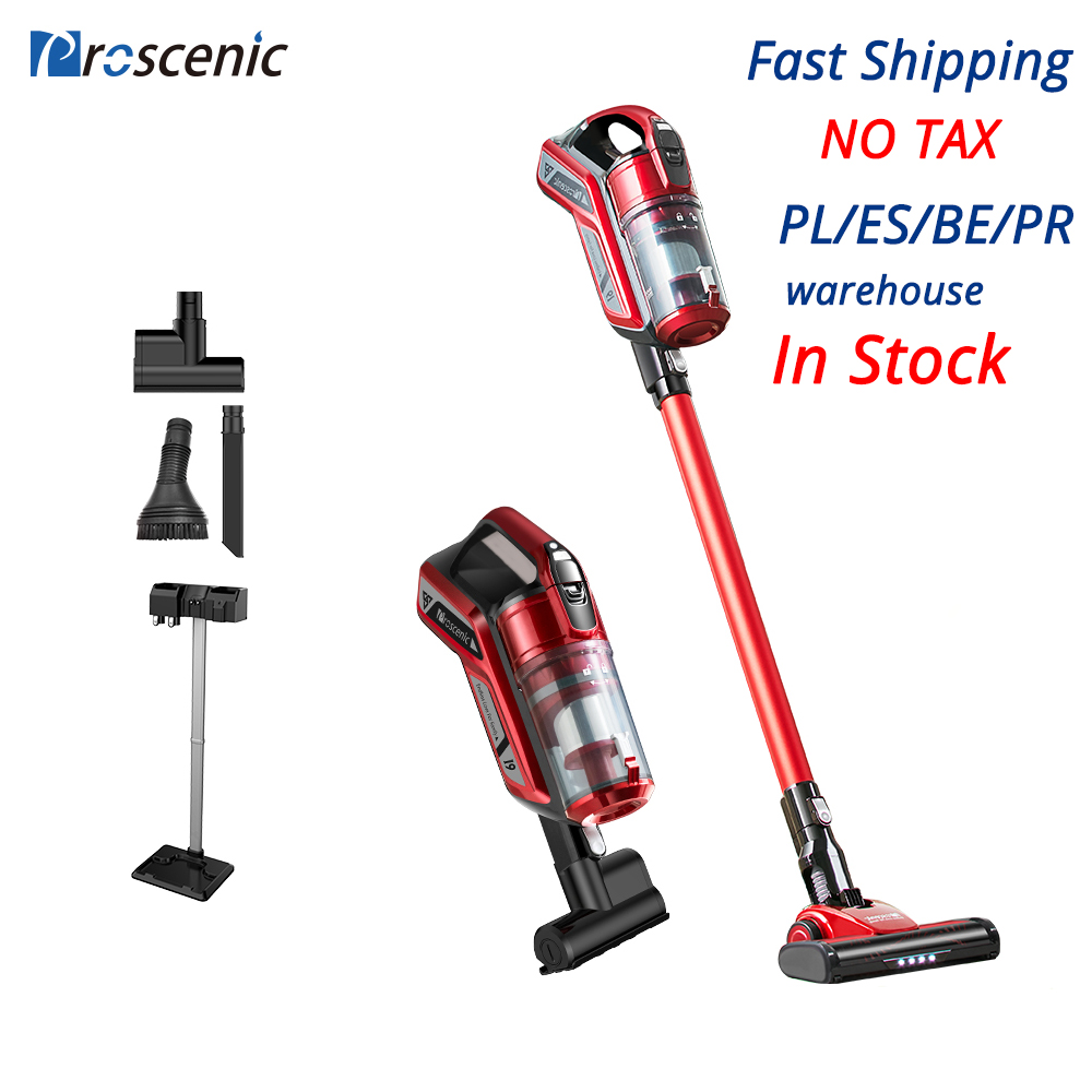 Proscenic I9 22000Pa Rechargeable Handheld Vacuum Cleaner For Home Cyclone Filter Portable Vertical Cordless Vacuum Cleaner