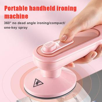 Przenośne elektryczne żelazko ręczne żelazko elektryczne szybko podgrzewane Mini domowe żelazko elektryczne do podróży w domu i podróży służbowej tanie i dobre opinie CN (pochodzenie) Other Ironing Machine 220V 0 4 kg 100ml Pink 360° Ironing No Dead Ends MCH Ceramic Plate Heating Easy to Use Store and Carry